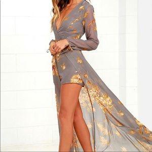 Lulus Fine and Dandelion Romper dress XS